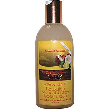 Hawaiian Bungalow Glow Premium Organic Coconut Butter Body Wash 2 Bottles Sunrise