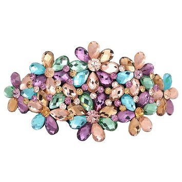 AENMIL Woman's Headwear Acrylic Hair Clip Diamond Crystal Hairpin Upscale Flourishing Hair Accessories - Color