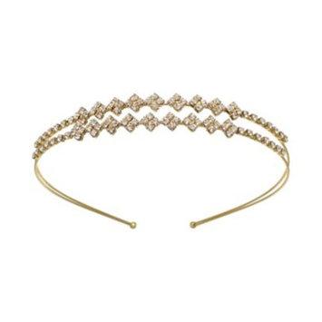 Gold-Tone Crystal Double-Row Headband