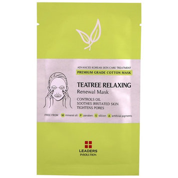 Leaders, Teatree Relaxing Renewal Mask, 1 Mask, 25 ml