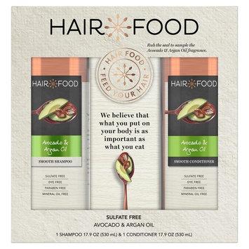 Hair Food Avocado & Argan Oil Sulfate-Free Shampoo and Conditioner Bundle Pack, 1 pk./17.9 oz. Shampoo + 1 pk./17.9 oz. Conditi