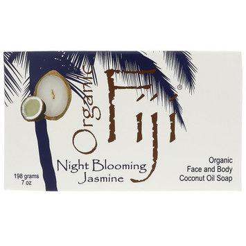 Organic Fiji, Face and Body Bar Soap, Night Blooming Jasmine, 7 oz (198 g) [Scent : Blooming Jasmine]