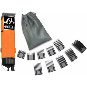 Oster Classic 76 Orange Color Limited Edition Hair Clipper+10 PC Comb Set