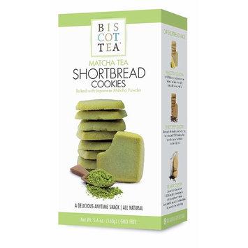 BISCOTTEA Matcha Green Tea Shortbread Cookies (8 Cookies)