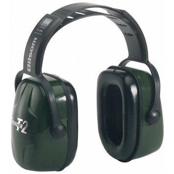 Howard Leight Thunder T2 Dark Green Plastic Headband Noise Blocking Earmuffs