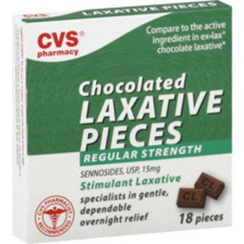 CVS Health Chocolate Laxative Pills Regular Strength, 18CT