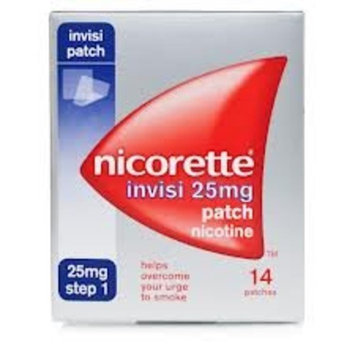 Nicorette Step 1 Invisi Nicotine Patches 25mg Pack Of 14