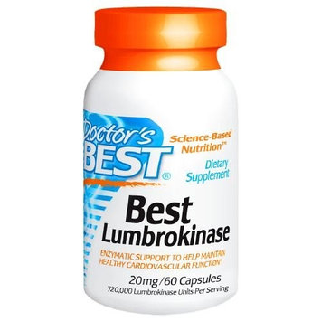 Doctor's Best Lumbrokinase 20 mg, 60 Veggie Caps