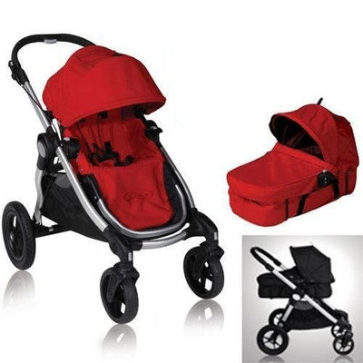 Baby Jogger 81263KIT1 2011 City Select Stroller with Bassinet - Ruby