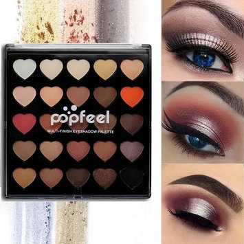 Beauty Glazed 25 Colors Eyeshadow Makeup Matte & Shimmer Palette Natural Nude Pigment Eye Shadow Pallete Set Long Lasting Waterproof Smokey Professional Cosmetic Kit Make Up Collection