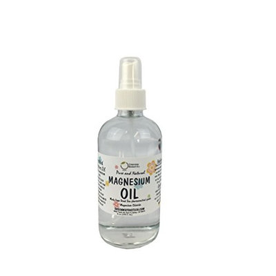 Magnesium Oil Spray - Transdermal Magnesium - Pure and Natural - Made From Magnesium Chloride Hexahydrate Pharmaceutical Grade - Packaged in a Spray Glass Bottle 8 oz.