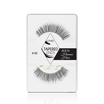 KASINA Professional False Eyelashes #82 Tapered Ends Lashes in 100% Human Hair, Version of Ardell Red Cherry, Pack of 6 [Professional False Eyelashes #82 Tapered Ends Lashes in 100% Human Hair]