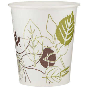 Dixie 58WS Pathways WiseSize Wax-Treated Paper Cold Cups, 5oz Capacity, Case of 24 Sleeves, 50 Cups per Sleeve