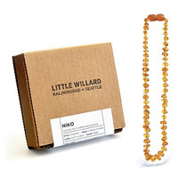Lab Tested Amber Teething Necklace by Little Willard (Honey)