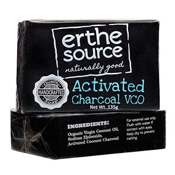 Activated Charcoal Soap With Virgin Coconut Oil 2 Pack | For Acne, Blackheads & Impurities | Face Moisturizing,Cleansing, Exfoliating, Purifying Soap For Women, Men And Teens