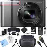 Panasonic ZS100 LUMIX 4K 20 MP Digital Camera - Silver (DMC-ZS100S) 32GB SDHC Card Bundle