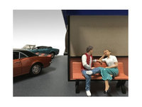 American Diorama 23925-23926 Sitting Figures Adam & Kristan 2 Piece Set for 1-24 Scale Models