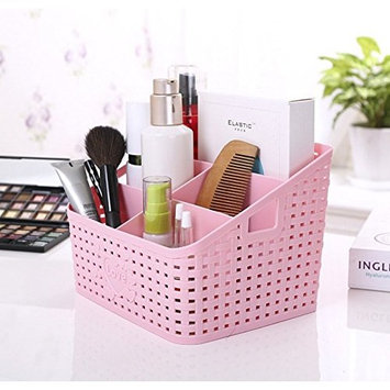 Magshion Vanity Makeup Cosmetic Brush Holder Remote Control Office Holder Organizer Pink