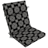 Arden Companies Better Homes and Gardens Outdoor Patio Dining Chair Cushion, Black Tulip Medallion