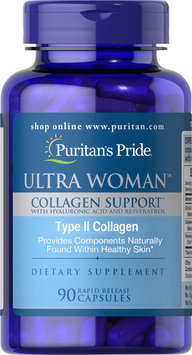 Puritan's Pride Ultra Woman Collagen Support-90 Rapid Release Capsules