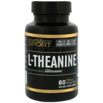 California Gold Nutrition, L-Theanine, Suntheanine, 200 mg, 60 Veggie Caps