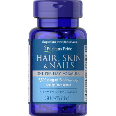 Puritan's Pride Hair, Skin & Nails One Per Day Formula-30 Softgels