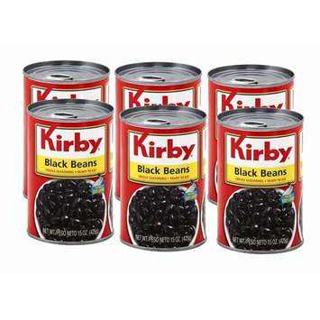 Kirby Ready to Eat Black Beans 15oz (6 Pack) Frijoles Negros - Creole Seasoning