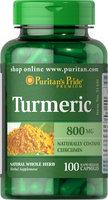 Puritan's Pride Turmeric 800 mg-100 Capsules
