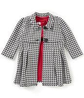 Iris & Ivy Two-Piece Sleeveless Textured Dress and Robe Set-BLACK-12 Months