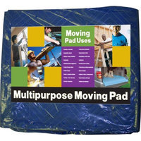 Value Brand 4LGK9 Quilted Moving Pad, L72xW80In, Blue