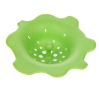 Outgeek Decorative Flower Shape Silicone Sink Drain Strainer for Kitchen Bathroom Home
