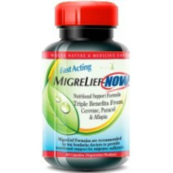 MigreLief-NOW - Fast-Acting, As Needed Formula - 60 Vegetarian Capsules