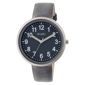Simplify The 2600 Women's Leather Strap Watch