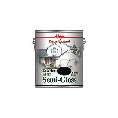 Yenkin Majestic 8-2320-1 Easy Spread Majic Exterior Latex Semi Gloss House Black Gallon