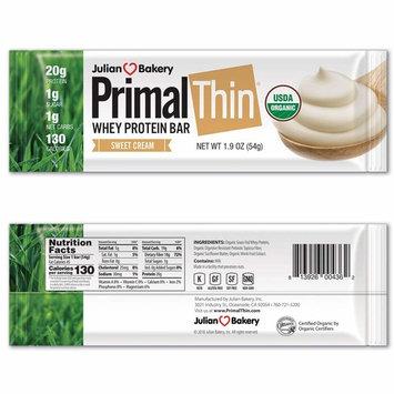 Primal Thin 20g Protein Bar (Sweet Cream)(Organic Grass Fed Whey) (130 Cal) (1g Sugar) (1 Net Carb) (Gluten-Free) (12 Bars)