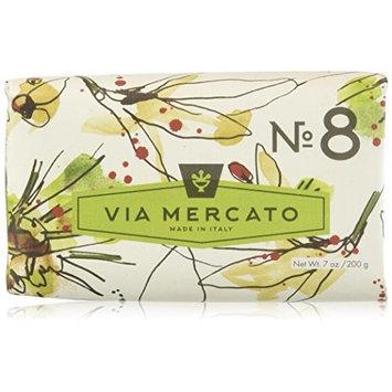 Via Mercato Italian Soap Bar (200 g), No. 8 - Clove, Vanilla Flower and Orange