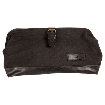 Monogram Groomsmen Gift Black Travel Dopp Kit Toiletry Bag
