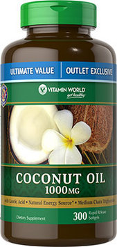 Vitamin World Coconut Oil 1000mg Value Size