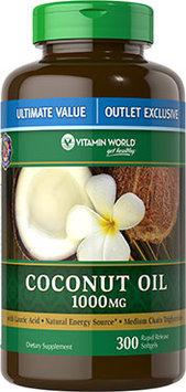 Vitamin World Coconut Oil 1000mg Value Size