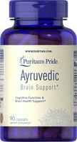 Puritan's Pride Ayurvedic Brain Health Support Bacopa, Ashwagandha, Turmeric-90 Vegi Caps