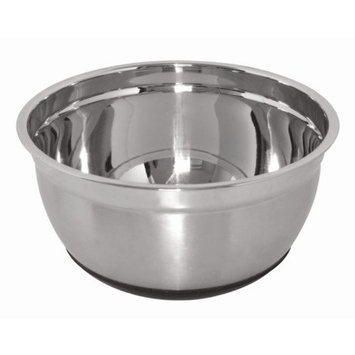 Vogue Stainless Steel Bowl With Silicone Base 5Ltr Kitchen Dish Restaurant