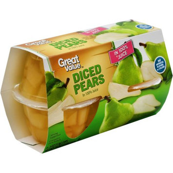 Pacific Coast Producers Great Value Diced Pears in 100% Juice