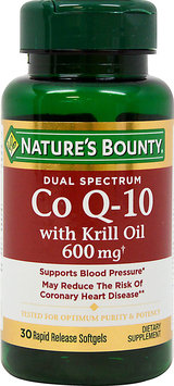Nature's Bounty Dual Spectrum Co Q-10 with Krill Oil 600 mg-30 Softgels