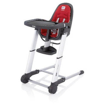 Inglesina 2012 Zuma Gray Highchair, Red