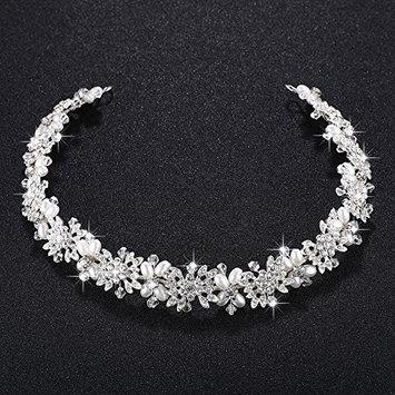 TOOGOO Imitation pearl + alloy Bridal Hair Vine Pearls Wedding Hair Jewelry Accessories Headpiece Women Crowns Pageant
