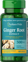 Puritan's Pride Ginger Root Standardized Extract 500mg-60 Capsules