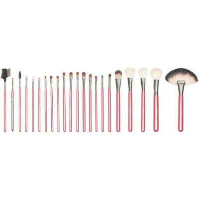 SHANY NY Collection Pro Brush Set with Red Cotton Pouch, 22 pc