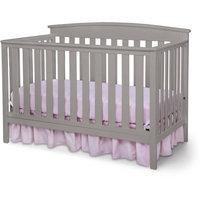 Delta Children Gateway 4-in-1 Fixed Side Crib, Gray