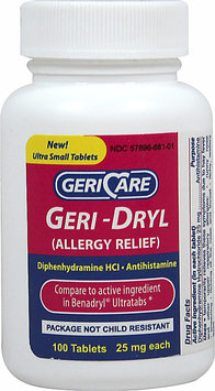 Gericare Complete Allergy Ultra Tab- Diphenhydramine HCl-100 Tablets