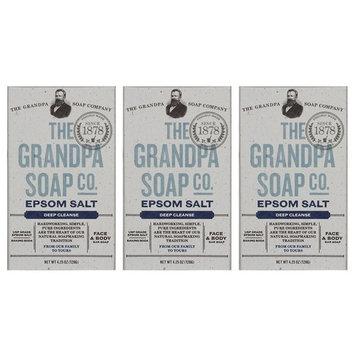 Grandpa Brands Co. - Epsom Salt and Baking Soda Bar Soap - 4.25 Oz (3-pack)